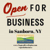 OPEN for Business Sanborn